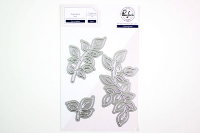 NEW! Pinkfresh Curvy Leaves Die Set