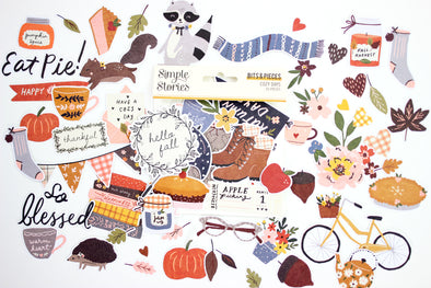 Simple Stories Cozy Days Bits & Pieces Die-Cuts