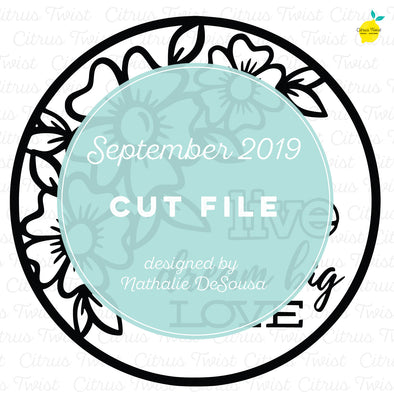 Cut file - Floral Circle - September 2019