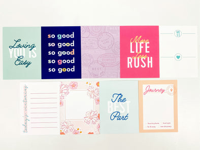 "September 2020 - Life Crafted ""THE BEST PARTS""  3"" x 4"" Journaling Cards"