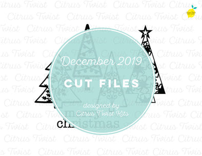 Cut file - Christmas Trees - December 2019