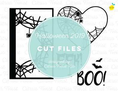 Cut file - Halloween Webs - October 2019