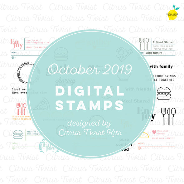 "This is Life ""Food Stories"" Digital Stamp Set - October 2019"