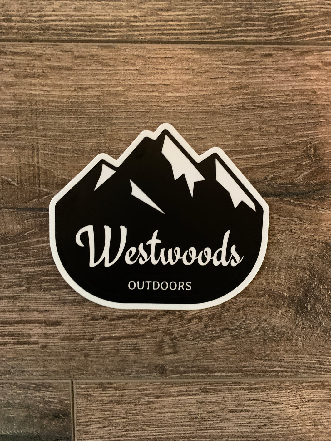 """Mountains"" decal 4 inch"