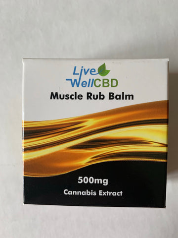 Live Well CBD 500mg Muscle Rub