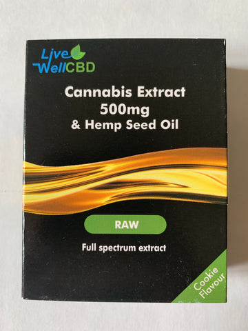 Live Well CBD 500mg Raw Extract Tongue Drops
