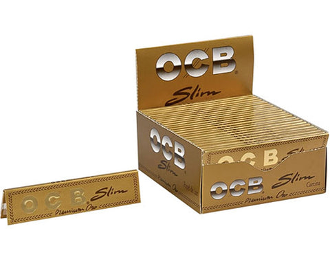 Gold OCB King Size Slim Premium Rolling Papers