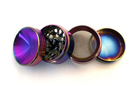 Multi Colour 4 Piece Metal Grinder