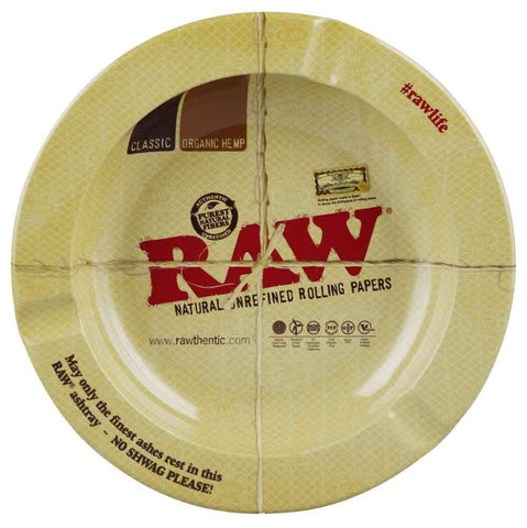 Raw Round Metal Ashtray