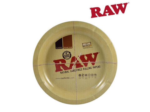 Raw Round Metal Rolling Tray
