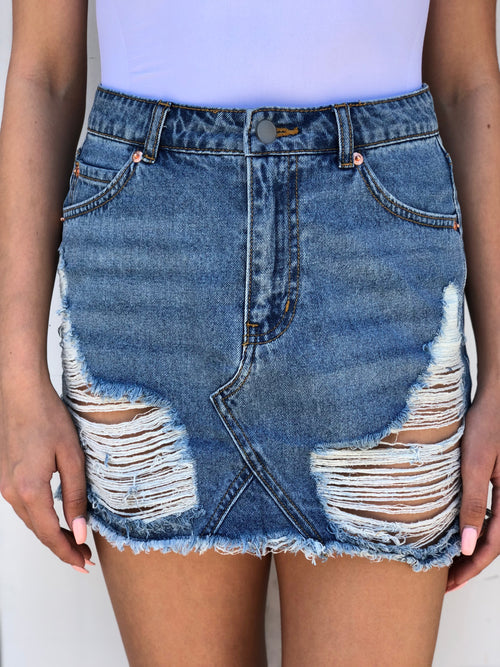 Brooke denim skirt