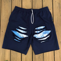 Navy Sky Cut Off Sweats