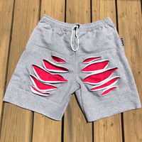 """Red See"" Cut Offs (Grey)"