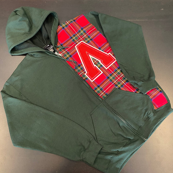 Lux Green Zip Hoody
