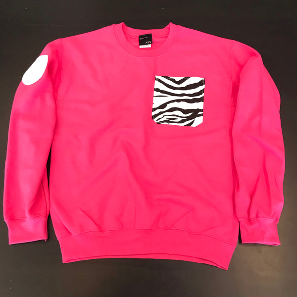 "AYV Articles ""Zebra"" Pocket Crewneck"