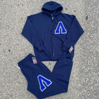 Ivy League Sweatsuit - Navy