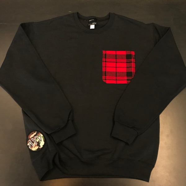 AYV Articles: Plaid Pocket Crewneck