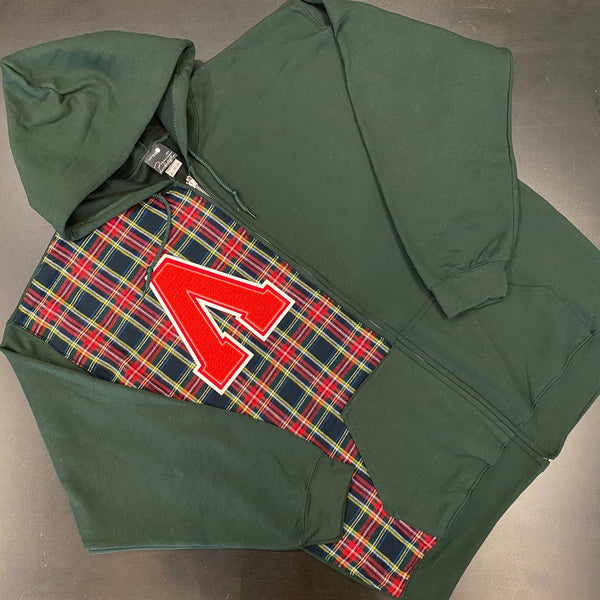 Yard Green Zip Hoody