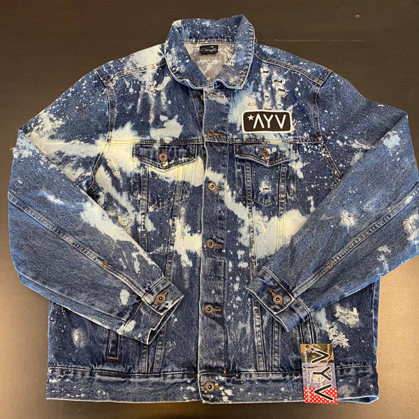 Distressed Denim Jacket 1 of 1 - XL