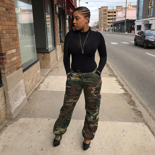 """Jane"" Camo Drawstring Pants"