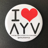 I Love AYV Button - 3 inch