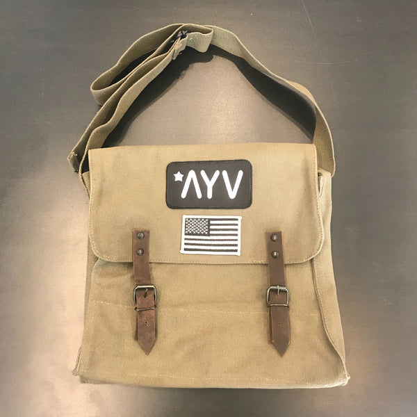"Classic ""Patch"" Messenger Bag"