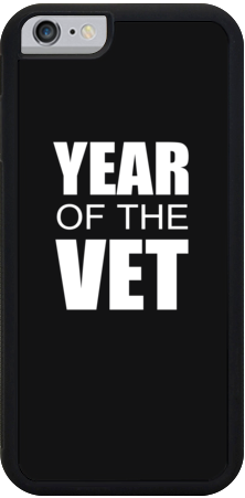#YearOfTheVet iPhone Case Case - Black