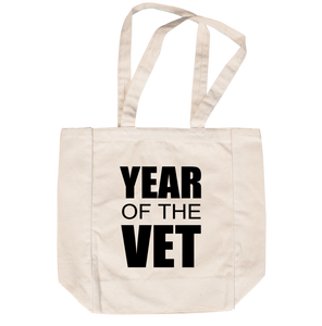 #YearOfTheVet Not-So-Duffle Bag (white)