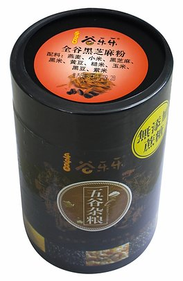 谷乐乐全谷黑芝麻粉(罐装)Whole Grain Black Sesame Cereal Powder (500g)