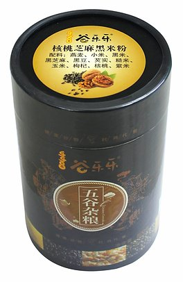 谷乐乐核桃芝麻黑米粉(罐装)Walnut Sesame Black Rice Cereal Powder (500g)