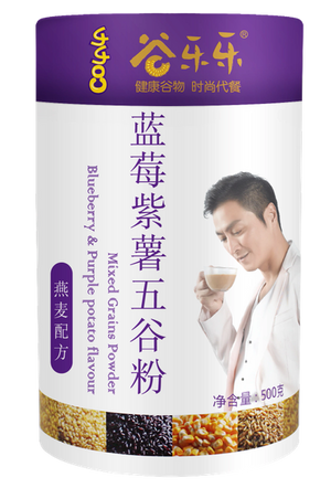 谷乐乐蓝莓紫薯五谷粉(罐装)Multigrain Cereal Blueberry & Purple Potato Powder (500g)