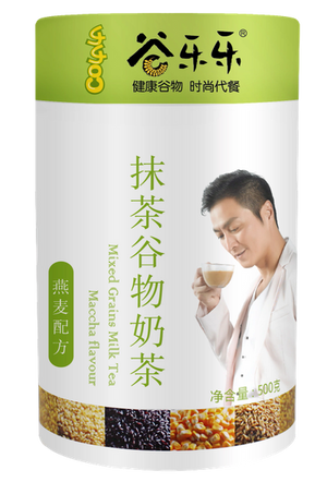 谷乐乐抹茶谷物奶茶(罐装)Multigrain Cereal Maccha Milk Tea Powder (500g)