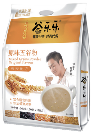 谷乐乐原味五谷粉(袋装)Original Multigrain Cereal Powder (360g)