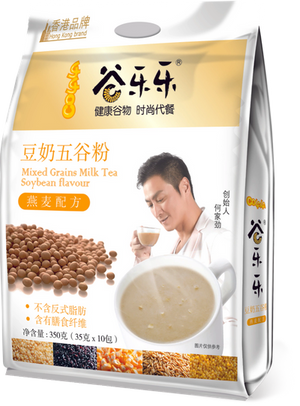 谷乐乐豆奶五谷粉(袋装)Multigrain Cereal Soy Milk Powder (350g)