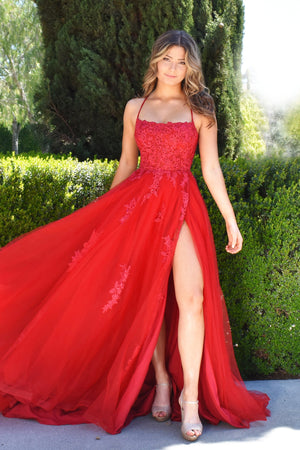 Alisha Gown red rene the label