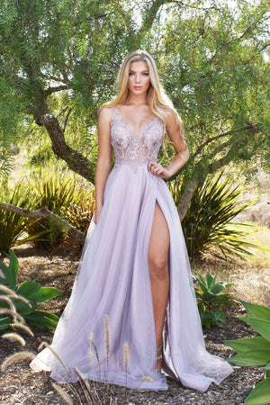 rene the label mauve prom dress