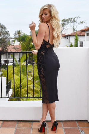 Short black bustier dress by rene the label