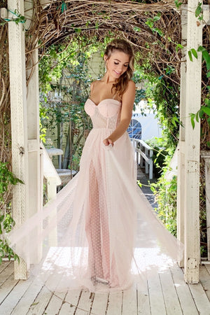 Rene the label emmy blush Tulle long dress