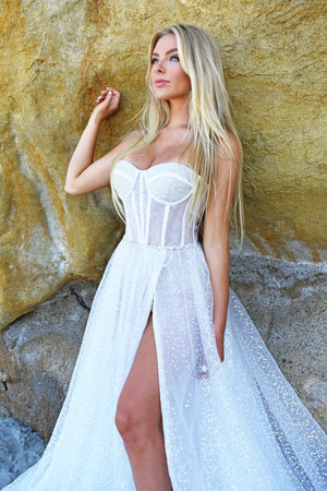 privee bustier bridal gown