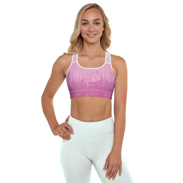 Pink Ombre Padded Sports Bra