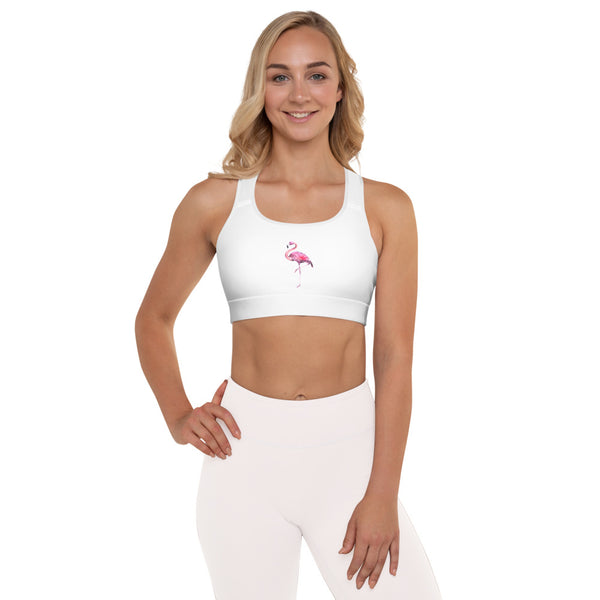 Flamingo Padded Sports Bra