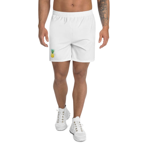 Watercolor, Pineapple, Men's Athletic Long Shorts, sports wear