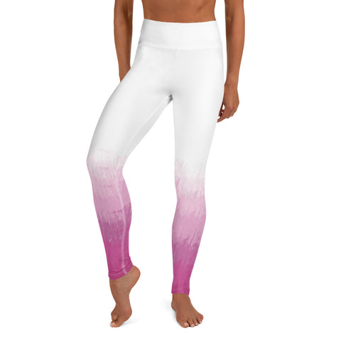 Pink Ombre Yoga Leggings