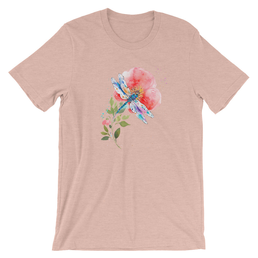 Watercolor Dragonfly I Short-Sleeve Unisex T-Shirt