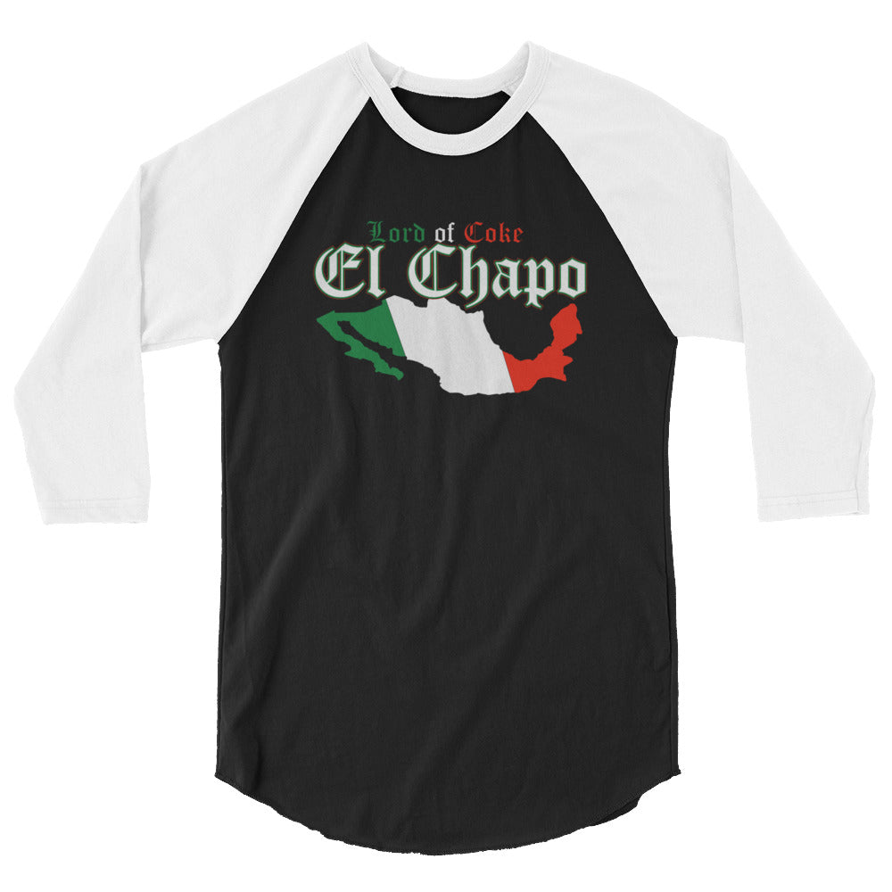 """Lord Of Coke"" El Chapo 3/4 Sleeve Raglan Shirt"