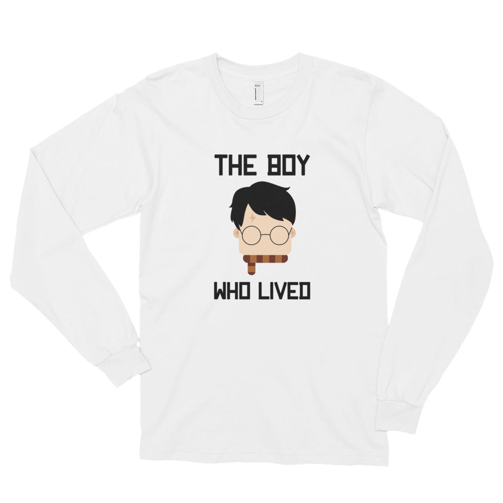 """The Boy Who Lived"" Harry Potter Long Sleeve Unisex T-Shirt"