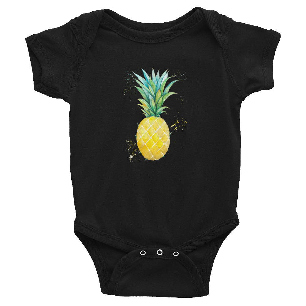 Watercolor Pineapple Infant Bodysuit