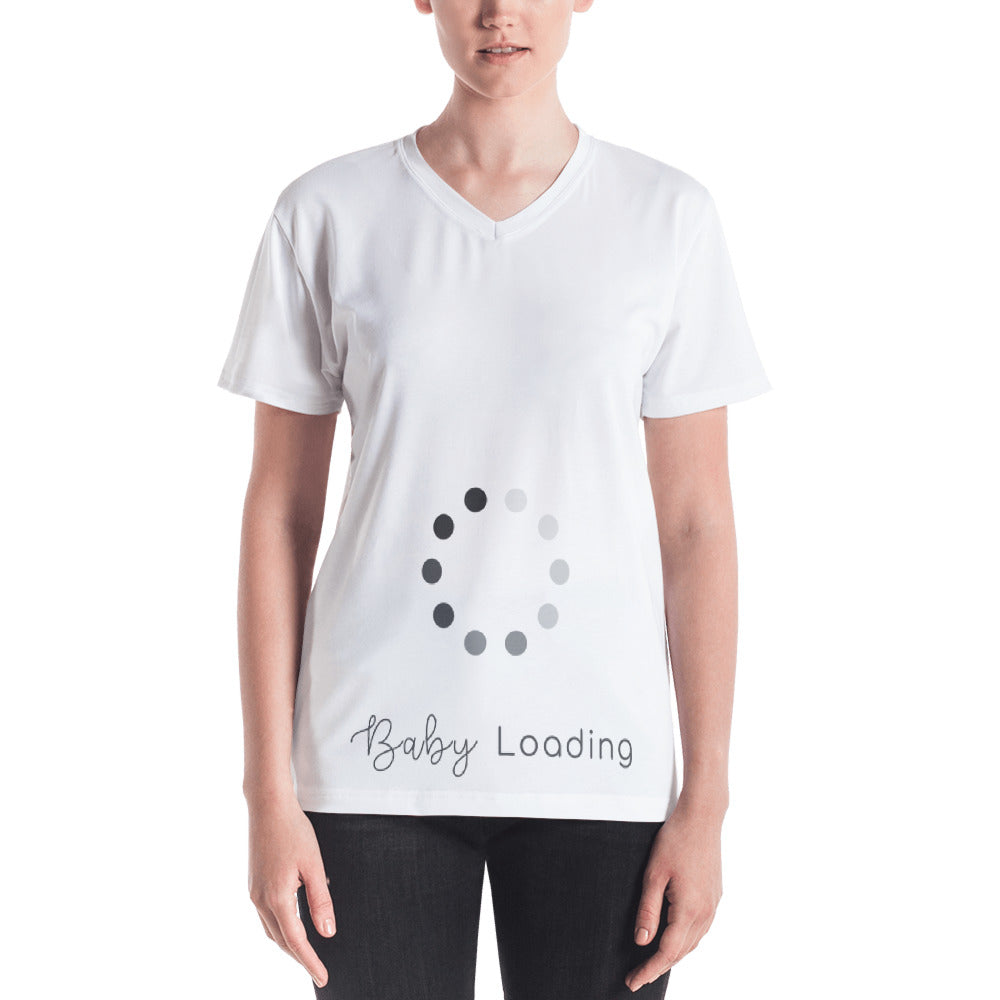 """Baby Loading"" Women's V-Neck T-Shirt"