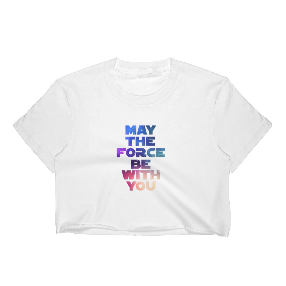 """May The Force Be With You"" Star Wars Women's Crop Top"