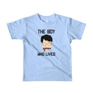 """The Boy Who Lived"" Harry Potter Short Sleeve Kids T-Shirt"